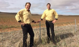 Father and son real-estate agents Geoff and Daniel Schell from South Australia's Clare Valley