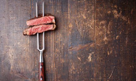 beef fork stock image