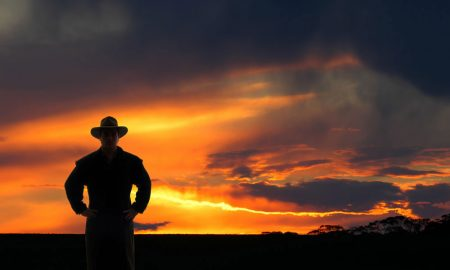 sunset-farmer
