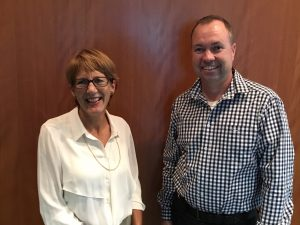 Brondwen MacLean GRDC Executive Manager Research and Ashley Webb NSW DPI Manager NSW Grains R&D Bilateral