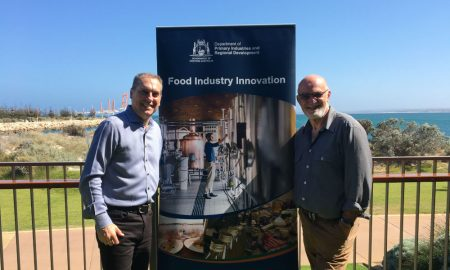 DPIRD Food Industry Innovation project manager Kim Antonio and award winning WA-based food and agri-tourism consultant, workshop presenter John Stanley prior to the workshop held in Geraldton