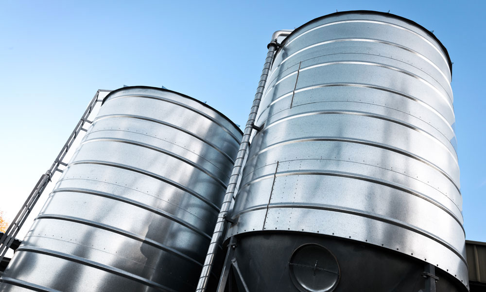 grain silo stock image