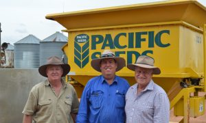 Neil Doyle, Olsens Produce Warwick, David Peters, 'Hillcrest', Allora, and Bill Smith, Pacific Seeds.
