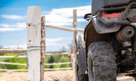 quad bike stock image